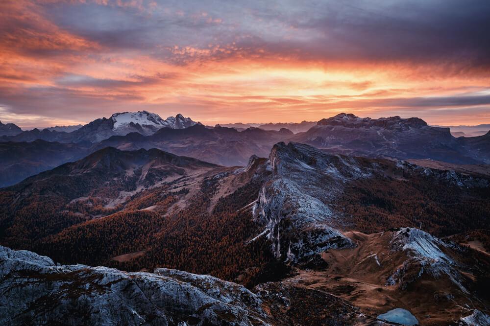 Luboš čerešňák -Západ-slnka-z-Lagazuoi-Dolomiti-Taliansko